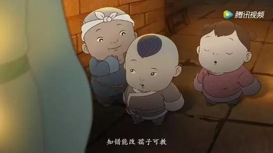 这才是中国的动画啊!  小孩儿来到厨房偷食 被父亲抓了个正着